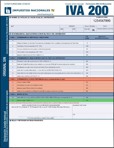 formulario 200 v3 y 400 v3 a partir de bolivia impuestos comunidad de contadores p 250 blicos autorizados auditores