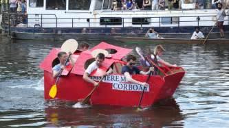 linlithgow cardboard boat race 2018 cambridge university cardboard boat race 2017 youtube