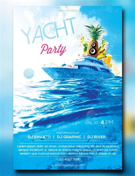 Yacht Party Flyer Www Pixshark Com Images Galleries With A Bite Free Boat Flyer Template