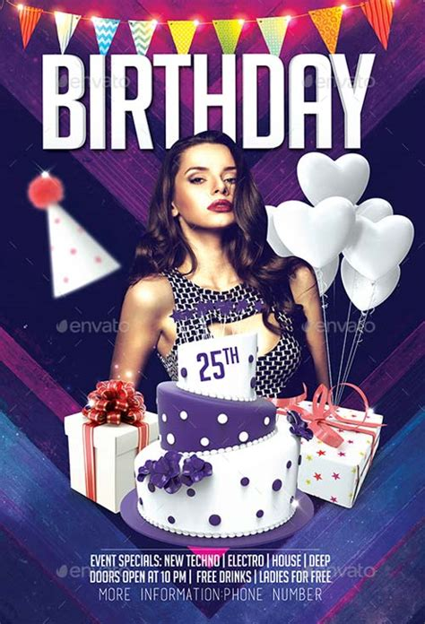Best Of Birthday Flyer Templates Free And Premium Flyer Collection Birthday Flyer Templates Free