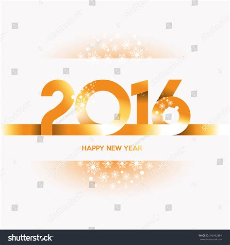 new year 2016 white background happy new year 2016 gold text design on white background