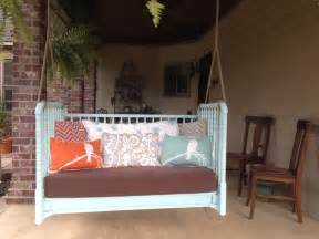 crib to porch swing for the home porch