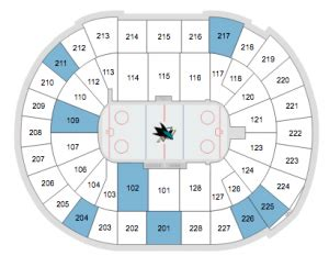 sharks seating chart san jose sharks tickets 2017 preferred seats access