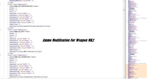 Modification Weapons by Ammo Modification For Weapon Mk2 Weapon Meta Gta5 Mods
