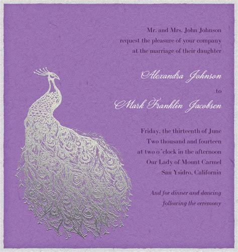 Hochzeitseinladung Pfau by Platter Pfau Hochzeitskarten