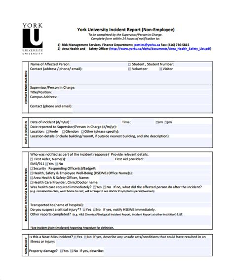 incident report template 16 free documents in