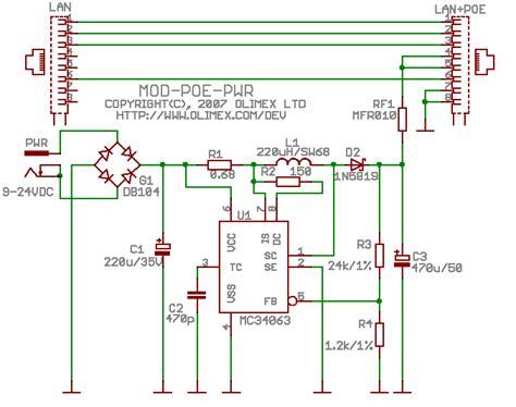 poe injector schematic diagram poe wiring schematic