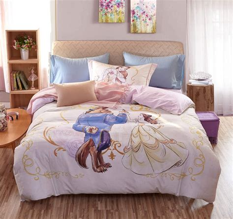 beauty and the beast bedroom set beauty and the beast disney cartoon 3d printed bedding set