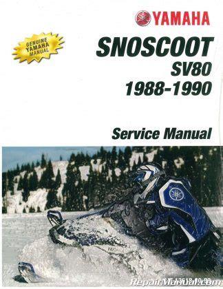 1979 1980 1985 1990 Yamaha Xlv Xl540 Snowmobile Service Manual
