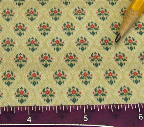 Colonial Upholstery Fabric by Dollhouse Miniature Upholstery Fabric Colonial Floral Damask