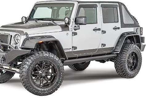 jeep fender flares jk rage products fx flat style textured flares for 07 17