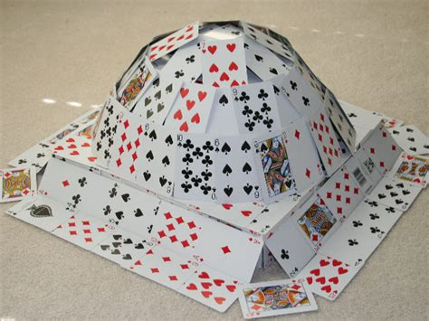 how to make a house out of cards card houses