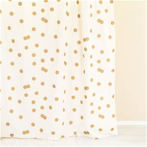 gold polka dot curtains polka dot gold white shower curtain from ankit bedroom