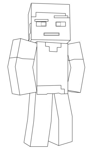 minecraft villager coloring pages minecraft steve coloring page free printable coloring pages