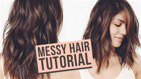 how to do messy hairstyles for long hair messy waves hair tutorial youtube