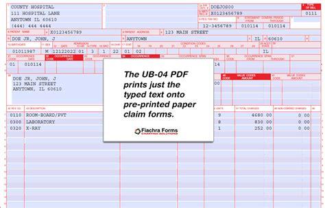 ub 04 form template ub 04 form