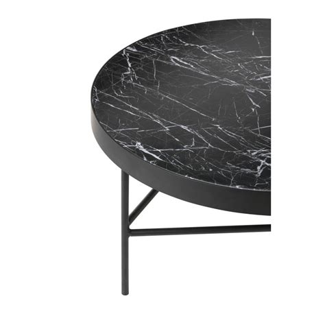 black marble table by ferm living