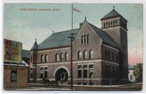 Jackson Post Office by 17 Best Images About Michigan Postcards On St
