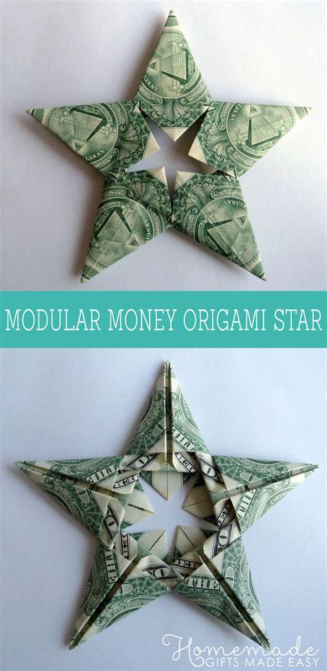 modular money origami star   bills   fold step