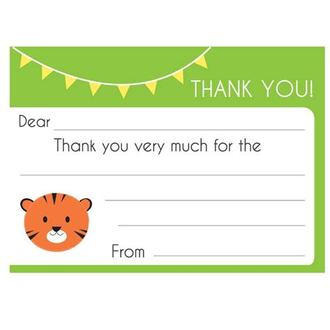 printable toddler thank you cards 17 best images about kids thank you notes on pinterest