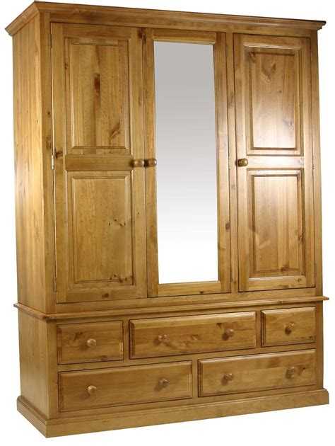 large bedroom furniture primrose solid chunky pine bedroom furniture large triple wardrobe with mirror