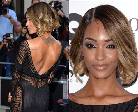 back of jordan dunn bob haircuts cutting edge 10 celebrity hairdos to suit your style heart