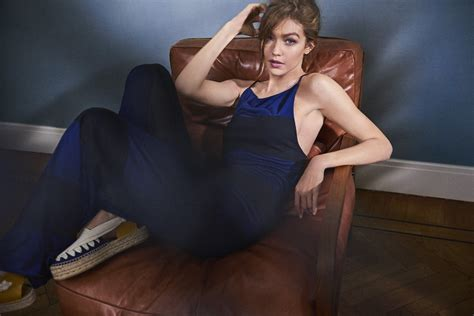 Parsons Chair Cover by Gigi Hadid Pose On Vogue Netherlands May 2017 Pamsen Fashion