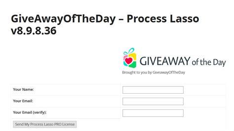 Process Lasso Giveaway - giveaway bitsum process lasso pro softerm