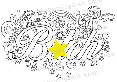 Btch Swear Words Printable Coloring Pages Swear Word Swear Word Coloring Pages Printable Free