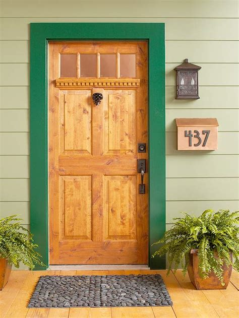 Wooden Front Doors For Homes 7 Ideas To Make Your Front Door Pop