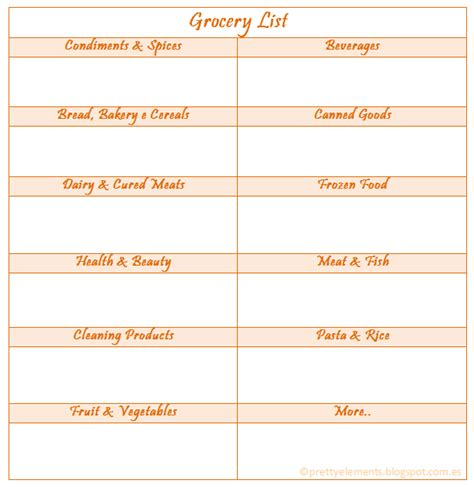 organized grocery list template pretty elements organized places organized minds
