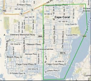 cape coral map florida sw florida lifestyle southwest florida news from