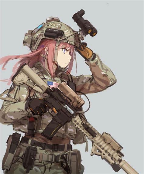 anime girl fantasy soldier wallpaper anime wallpaper background art of war art of war pinterest anime guns and military