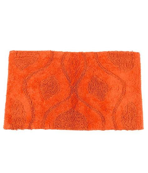 Orange Bathroom Rug Homefurry Orange Bed Flower Bath Rugs Buy Homefurry Orange Bed Flower Bath Rugs At Low