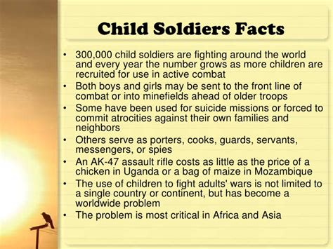 Child Soldiers Essay by Child Soldiers Overview
