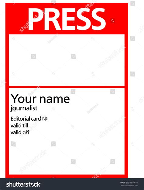 pass card template blank press pass template www imgkid the image kid