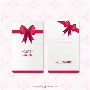 free gift card template gift card template with ribbon vector free