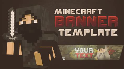 minecraft banner template for photoshop amp c4d by nitrofx