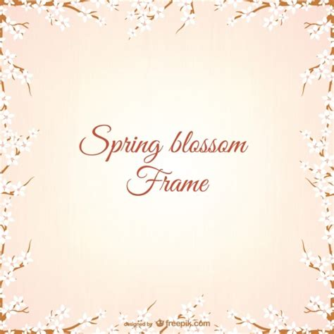 cherry blossom frame vector free download