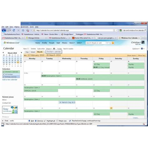 understanding why microsoft works calendar sync with