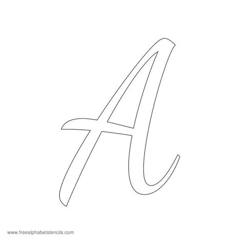 printable stencils of the alphabet 1950s casual cursive alphabet stencils