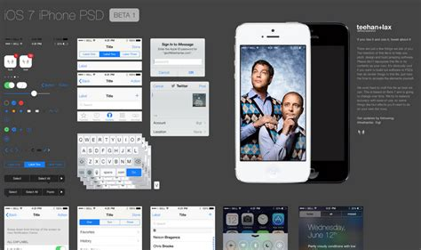 ios design templates design studio teehan lax posts fantastic ios 7 ui design