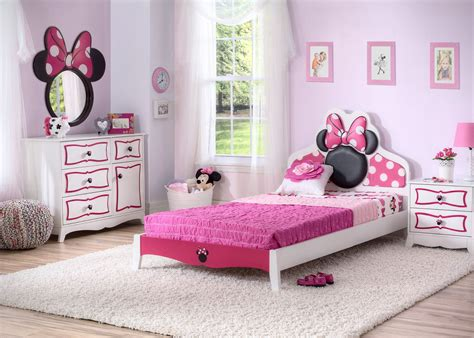 minnie mouse bedroom delta children minnie mouse wooden twin bedroom collection