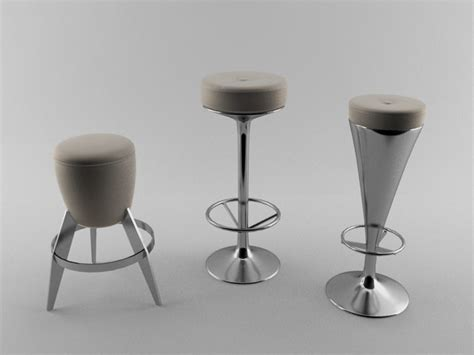 bar stool collection 3d model max cgtrader