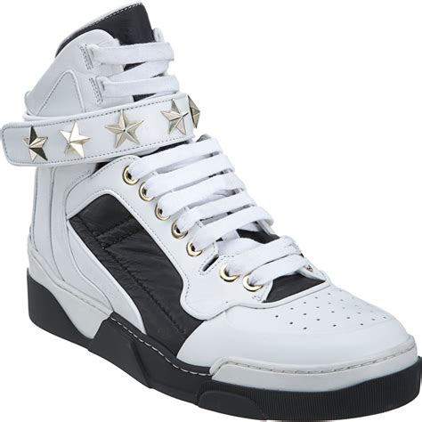 givenchy sneakers mens givenchy studded high top in white for lyst