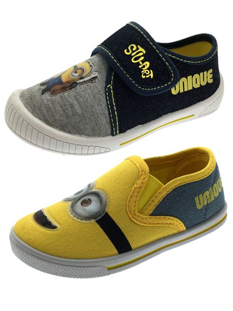 Minion Shoes boys minions canvas pumps flat casual shoes trainers from