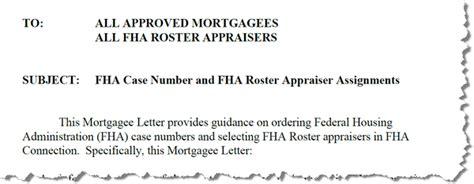 Fha Mortgagee Letter Appraisal Portability Appraisal Scoop New Fha Mortgagee Letter 2010 15 Fha Number And Fha Roster Appraiser