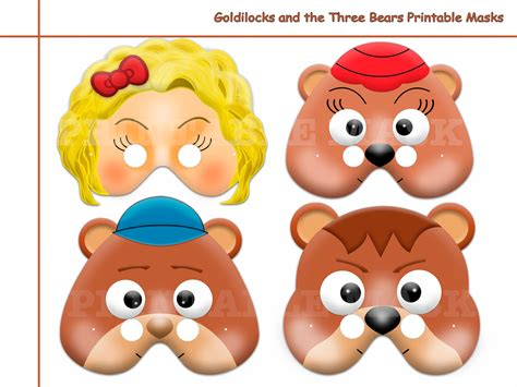 printable masks for goldilocks and the three bears unique goldilocks and the three bears printable masks