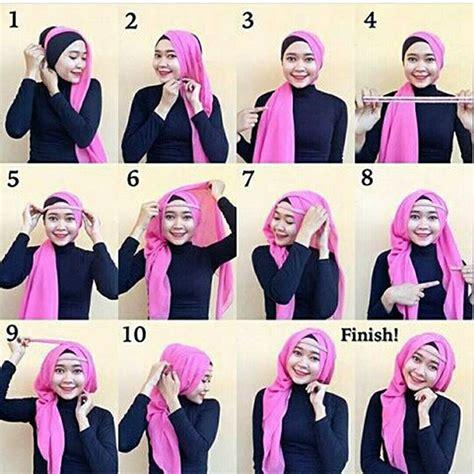 tutorial hijab pesta 2 lapis cara memakai hijab pashmina yang mudah dan simple