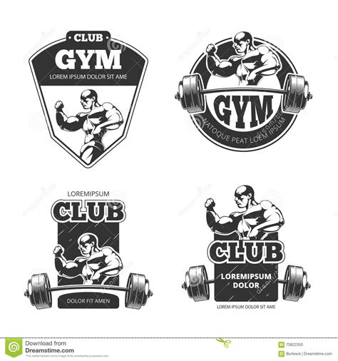 elit templates sticker fitness and club badges vector illustration
